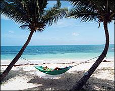 Antigua on the beach